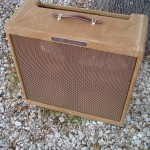 Restored Fender 1958 Bassman that has been distressed to show its age.