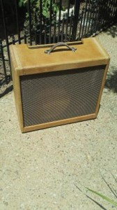 Distressed Fender Tweed Tremolux Replacement Cabinet