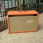 Custom Fender Cabinet in orange tolex
