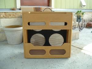 Custom Tweed V Front Cabinet for Fender Bassman Chassis