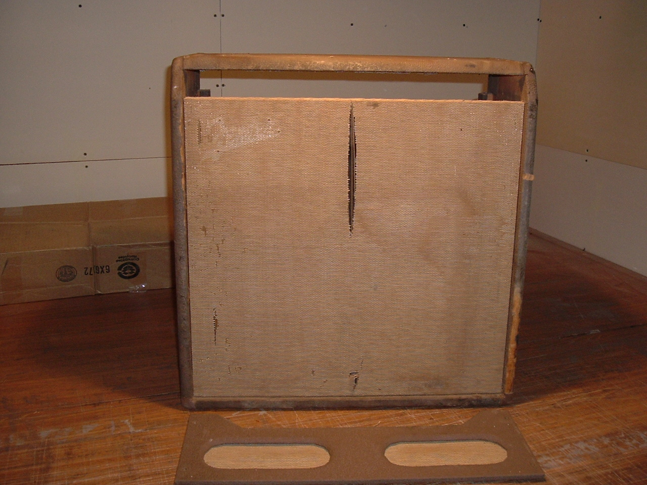 fender brown concert amp before restoration armadillo amp works