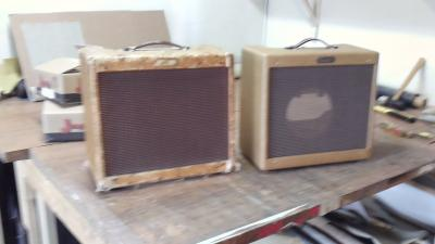 fender tweed princeton reproduction cabinet by armadillo amp works
