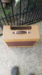 Fender Replacement Cabinet for a 1954 Wide Panel Tweed Deluxe, top view