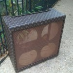 Antique Pine Bassman with Louis Vuittone Fabric