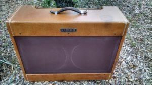 Fender Amplifier Cabinet Restoration of a Wide Panel Tweed Twin